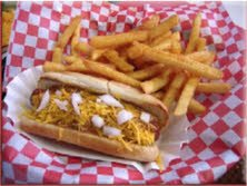 Taco Pete hotdog and fries
