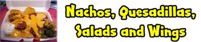 Atlanta GA Nachos, Quesadillas, Salads and Wings