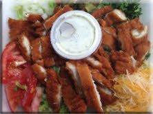 Taco Pete Chicken Strip Salad